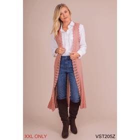 Flirty Knit Long Vest - XXL (3 pc. ppk.)