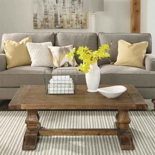 Product Image - Hawthorne - Coffee Table and Side Table - Barnwood Finish-Floor Sample
