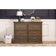 Mocha Foothill-Louis 6-Drawer Dresser