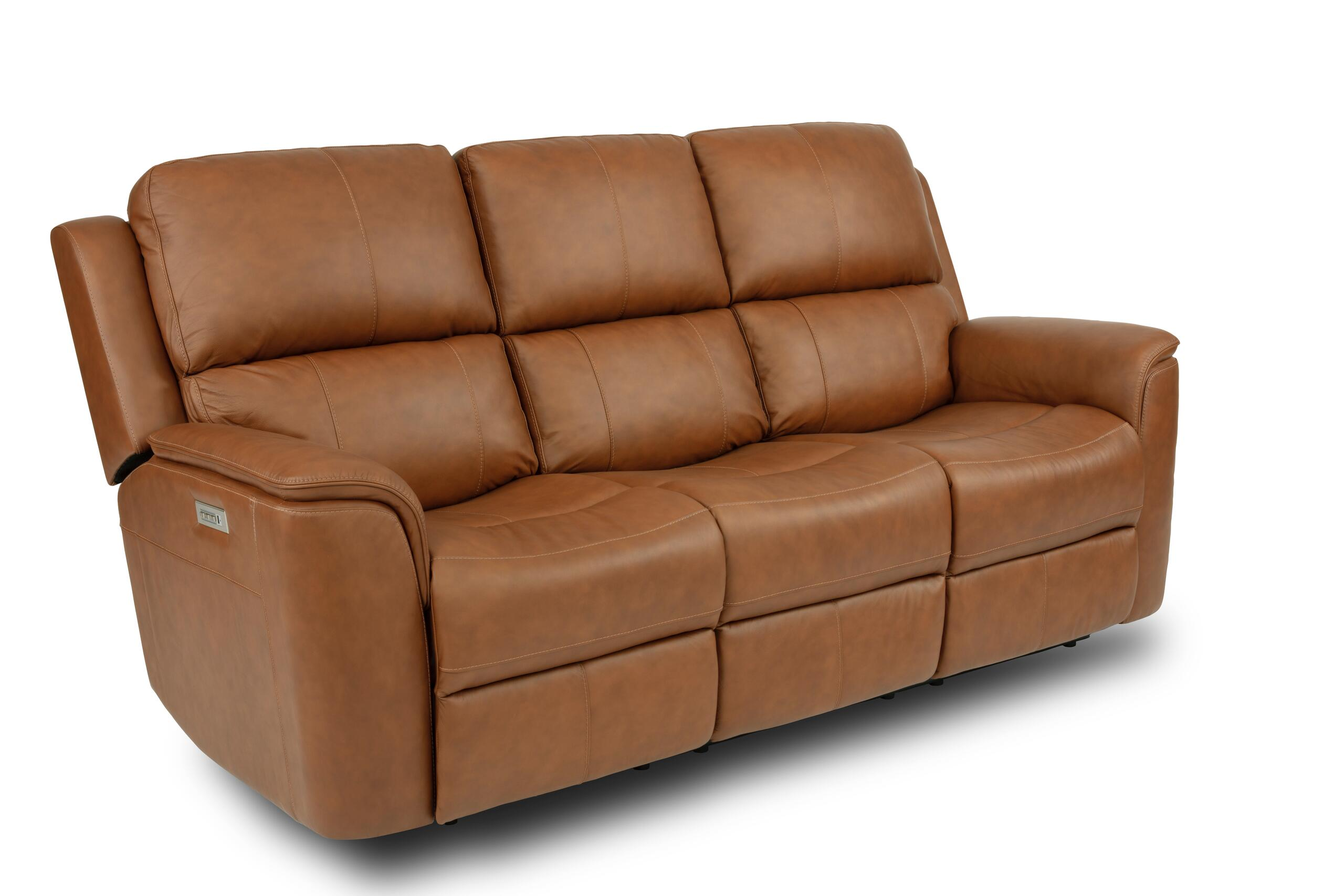 FlexsteelHenry Power Reclining Sofa With Power Headrests And Lumbar