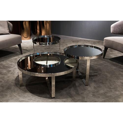 Modrest Wilcox Contemporary Mirrored Coffee Table Set
