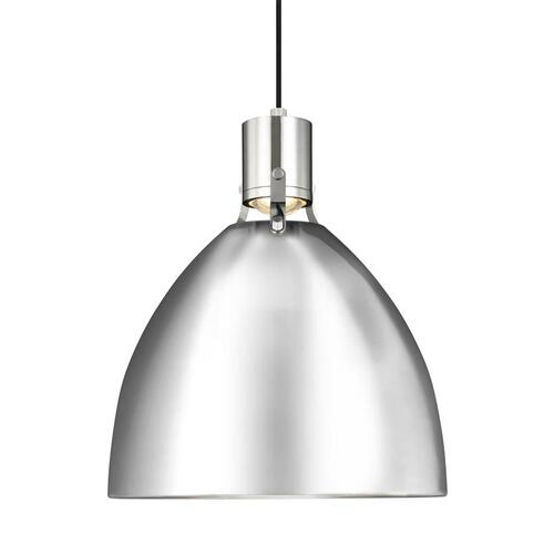 Brynne Medium LED Pendant Satin Nickel Bulbs Inc