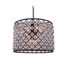 Madison 8 light Matte Black Chandelier Clear Royal Cut Crystal