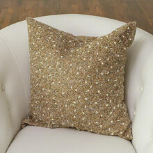 Golden Beaded Pillow
