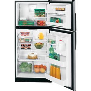 GE® 18.0 Cu. Ft. CleanSteel Top-Freezer Refrigerator