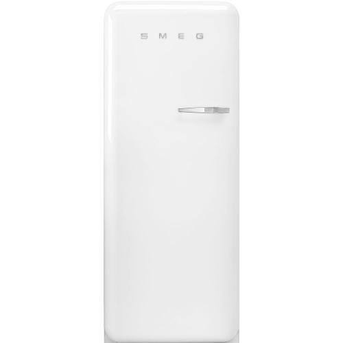 "24"" retro-style fridge, White, Left-hand hinge"