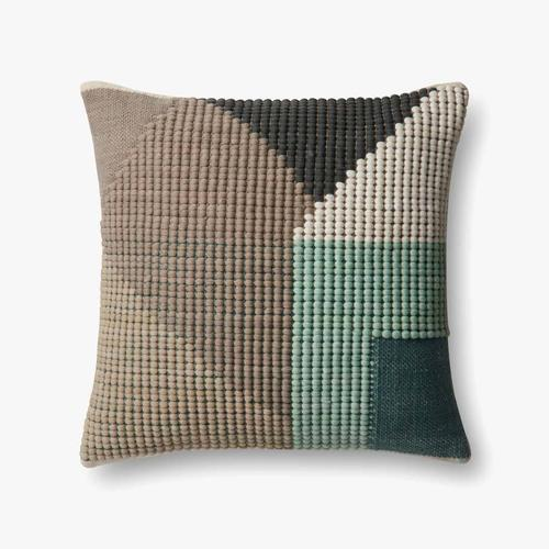 P0504 In/out Teal / Multi Pillow