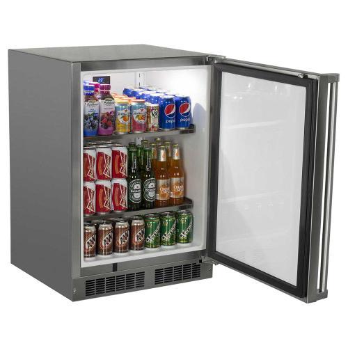 24-In Outdoor Built-In All Refrigerator with Door Swing - Right