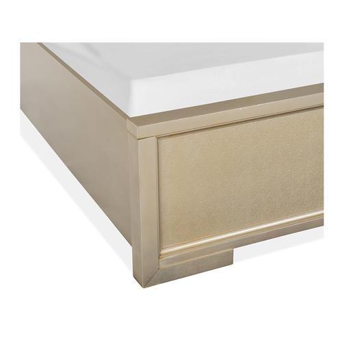 Complete Queen Panel Bed w/Upholstered Headboard