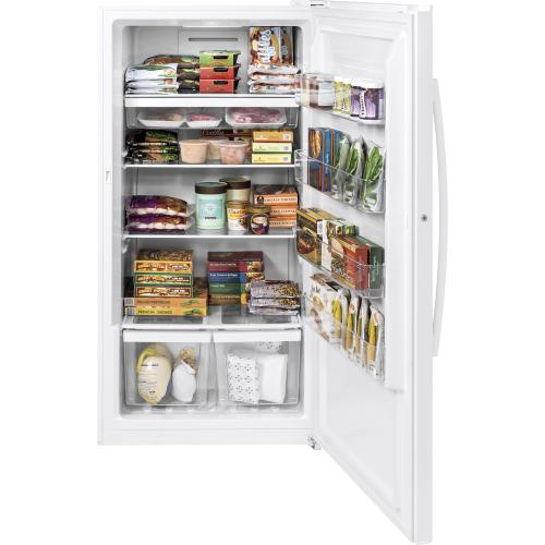 GE 17.3 Cu. Ft. Frost Free Upright Freezer White FUF17DLRWW