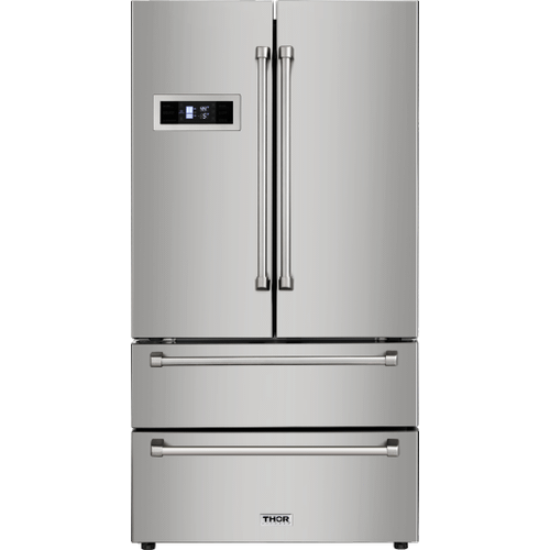 36 Inch Professional French Door Refrigerator In Stainless Steel, Counter Depth