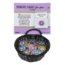 Springtime Flowers Charms in a Basket (24 pc. ppk.)