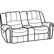 Hometown Fabric Power Reclining Loveseat with Console