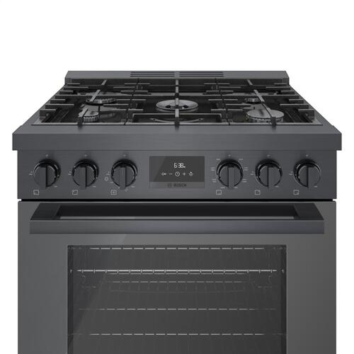 800 Series Dual Fuel Freestanding Range Black stainless steel HDS8045C