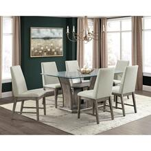 Dapper Grey Rectangular Dining Set - Table and 6 Chairs