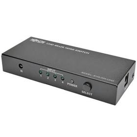 4-Port HDMI Switch with Remote Control - 4K 60 Hz, UHD, 4:4:4, HDR, 3D
