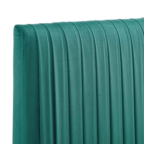 Eloise Channel Tufted Performance Velvet King/California King Headboard in Teal