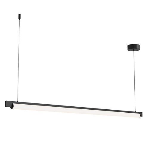"Sonneman - A Way of Light - Keel LED Pendant [Size=60"", Color/Finish=Satin Black]"