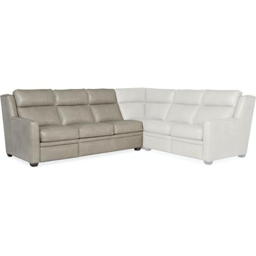 Bradington Young Revelin LAF Sofa Recliner At Arm w/AHR - Two Pc Back 203-61-2