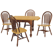 DLU-TDX3472-820-NLO5PC  5 Piece Drop Leaf Extendable Dining Set  Arrowback Chairs