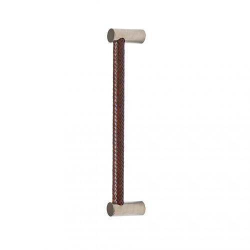 """Leather Grip (G172) - 19 1/2"""" White Bronze Light with Chocolate Leather"""