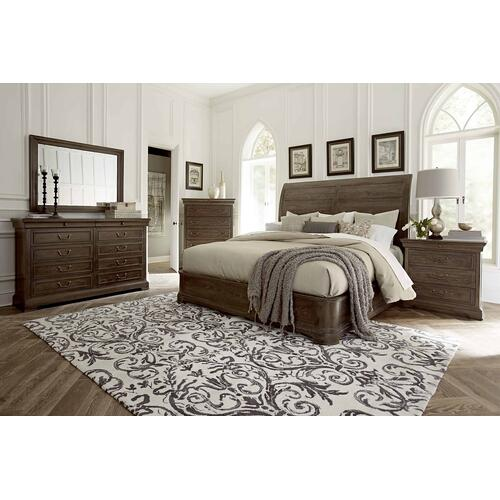 St. Germain Platform Sleigh King Bed