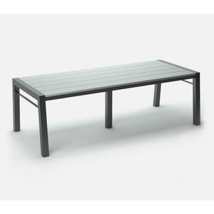 "44"" x 96"" Rectangular Cafe Table (no Hole) Ht: 30"" Post Aluminum Base (Model # Includes Both Top & Base)"