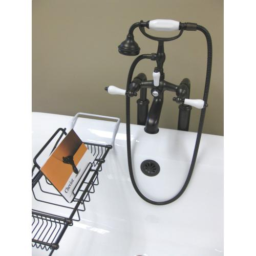 DELUXE Solid Brass Bathtub Caddy Solid Brass Reading Rack