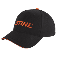 Be bold wearing this black and orange cap!