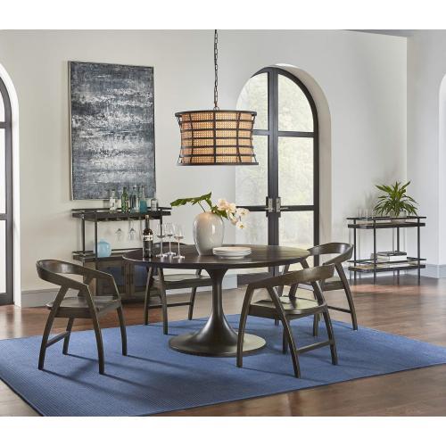 Pierre Mahogany Round Dining Table 60''