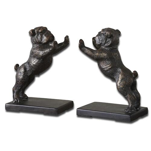 Bulldogs Bookends, S/2