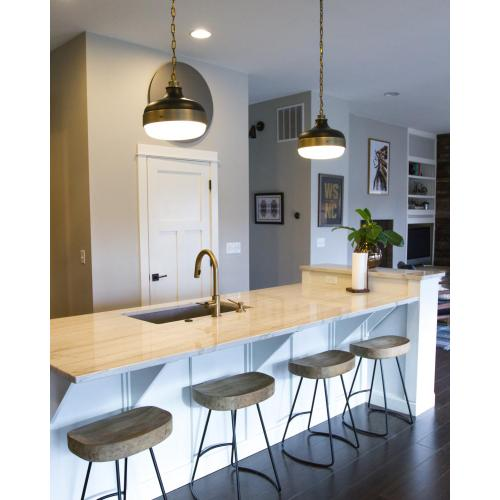 Cadence Pendant Polished Nickel / Brushed Steel