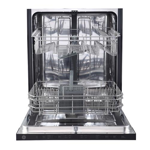 """GE 24"""" Built-In Top Control Dishwasher with Stainless Steel Tall Tub Panel Ready - GBT412SIMII"""