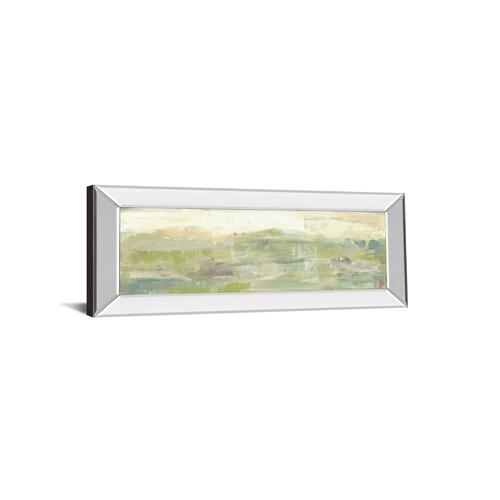 "Classy Art - ""Greenery Horizon Line III"" By Jennifer Goldberger Mirror Framed Print Wall Art"
