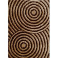 Soft Three Dimensional Polyester Viscose Hand Tufted 3D 313 Shag Area Rug by Rug Factory Plus - 2' x 3' / Brown