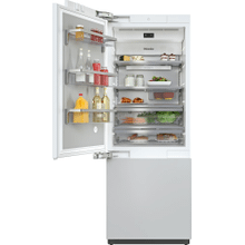 KF 2812 Vi - MasterCool™ fridge-freezer with high-quality features and maximum storage space for exacting demands.