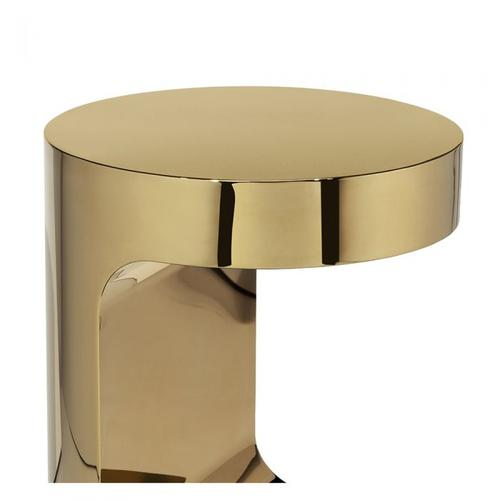Dorset Round Hugging Table - Brass
