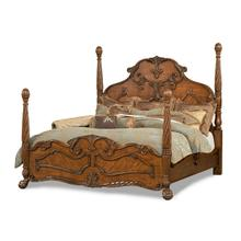 Queen Poster Bed -(3pc)