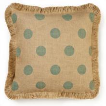 Blue Dot Burlap Pillow