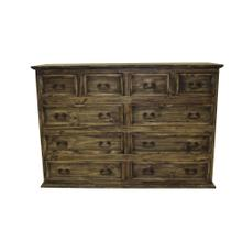 10 Drawer Dresser Medio Finish