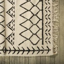 Bodmin I 96 x 60 Cream Wool Patterned Rug