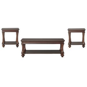 Mahogany Finish Table Set