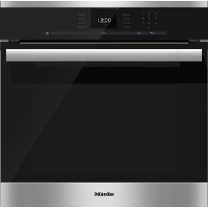 MieleH 6560 B AM - 24 Inch Convection Oven with AirClean catalyzer and Roast probe for precise cooking.