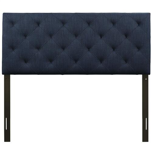 Theodore Full Upholstered Fabric Headboard in Navy