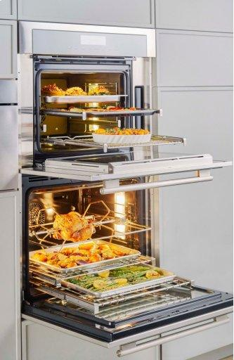 """30"""" Masterpiece™ Series Double Wall Oven, Right-Side Swing Door MED302RWS"""