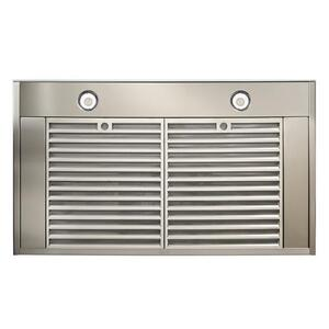 Ispira 36-in. 650 Max CFM Stainless Steel Chimney Range Hood with PURLED Light System and Brushed Grey Glass