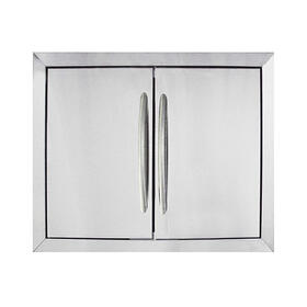 Medium Stainless Steel Double Door Set