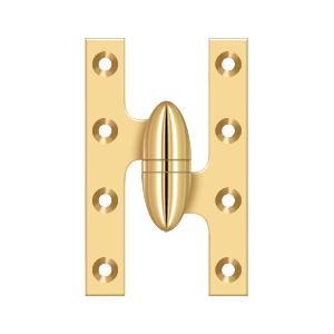 "Deltana - 5"" x 3-1/4"" Hinge - PVD Polished Brass"