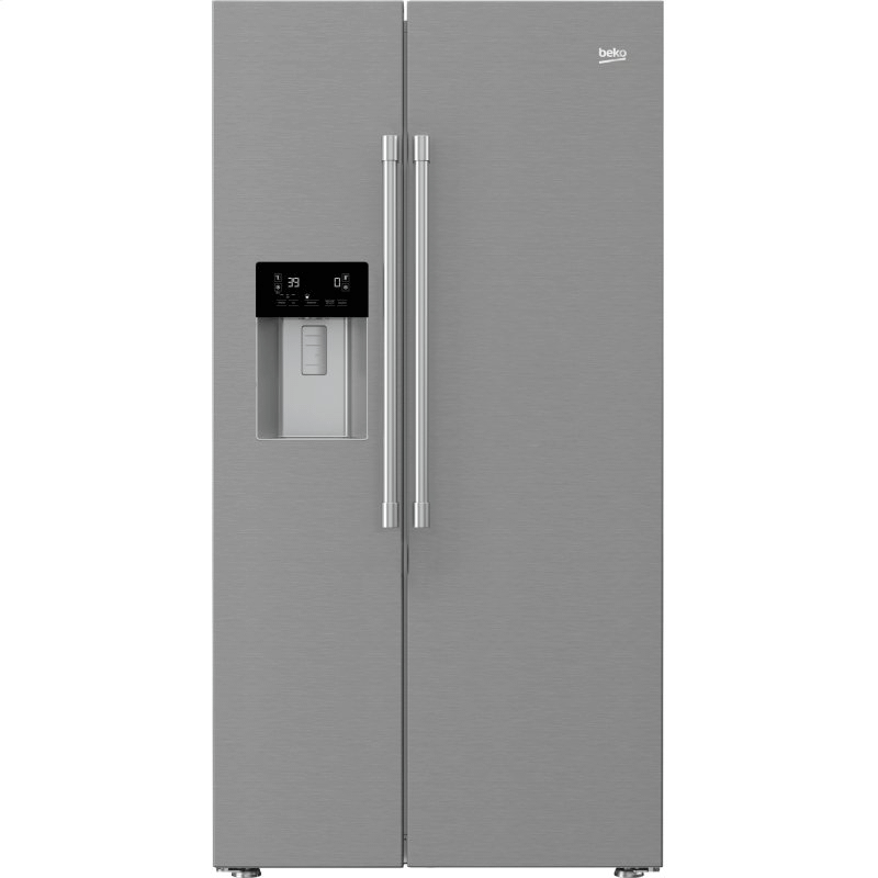 """36"""" Side by Side Stainless Steel Refrigerator with Auto Ice and Water Through the Door"""