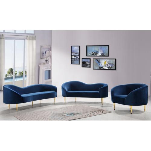 """Ritz Velvet Sofa - 85.5"""" W x 31.75"""" D x 30.5"""" H"""